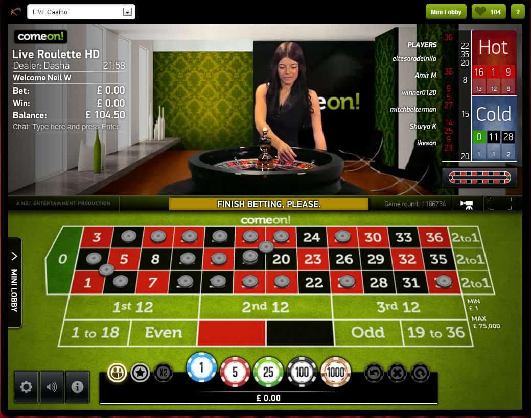 roulette live casino venezia