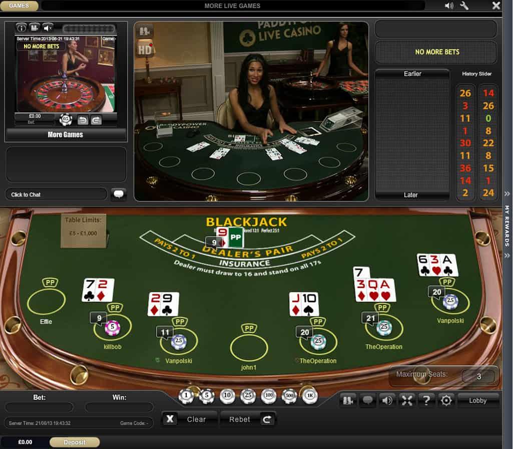 21 blackjack streaming ita