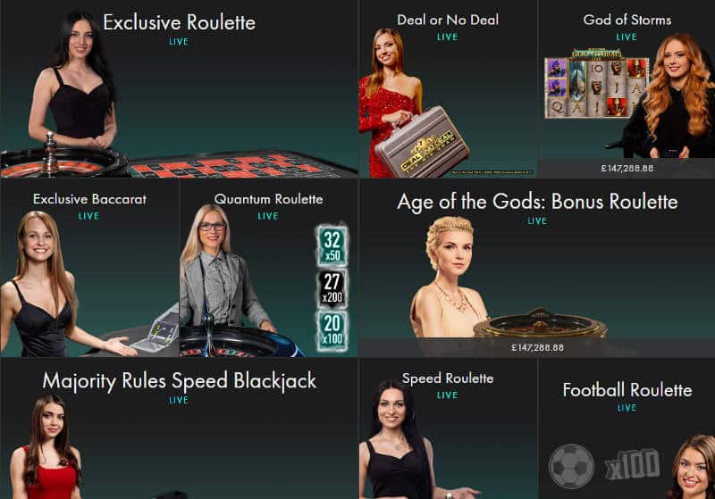 bet365 live casino games