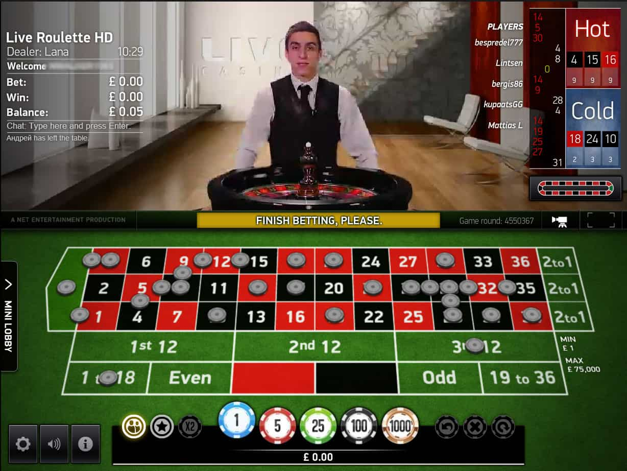 live roulette channel 5