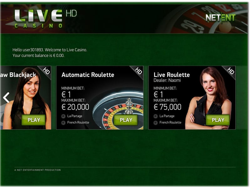 netent live casino review