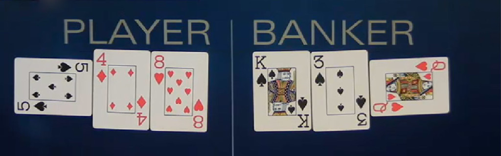 3 card live baccarat hand