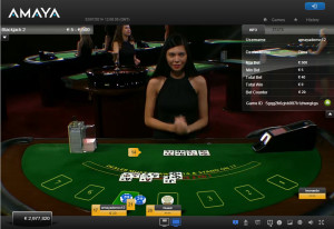 Amaya Live Casino Blackjack