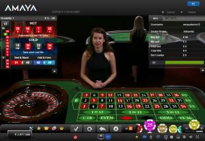 Amaya Live Casino Roulette