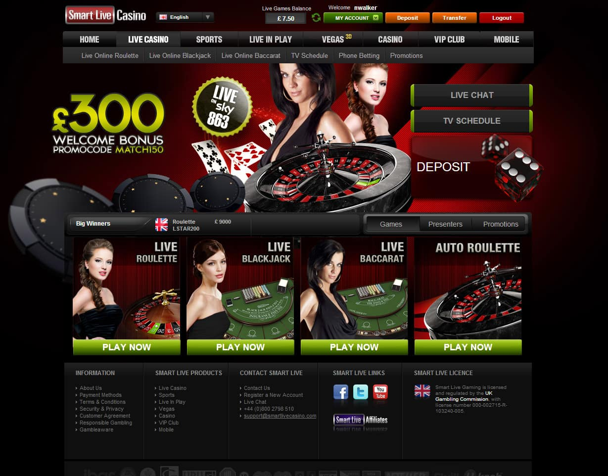 Smart Live Gaming Live Casino