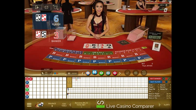 microgaming live casino baccarat