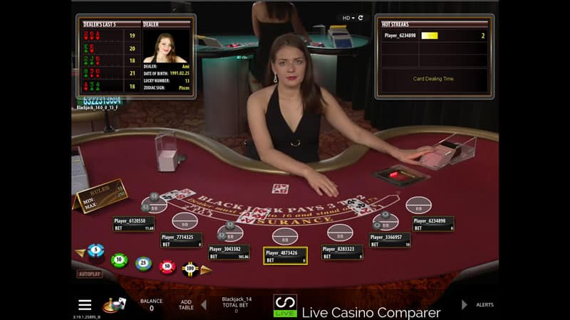 microgaming live casino blackjack