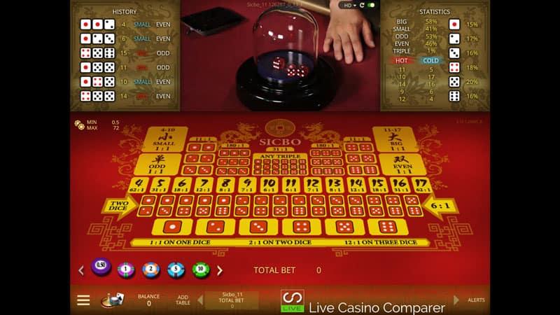 Microgaming live casino Sic Bo