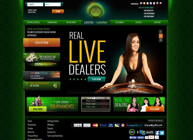 Celtic live Casino