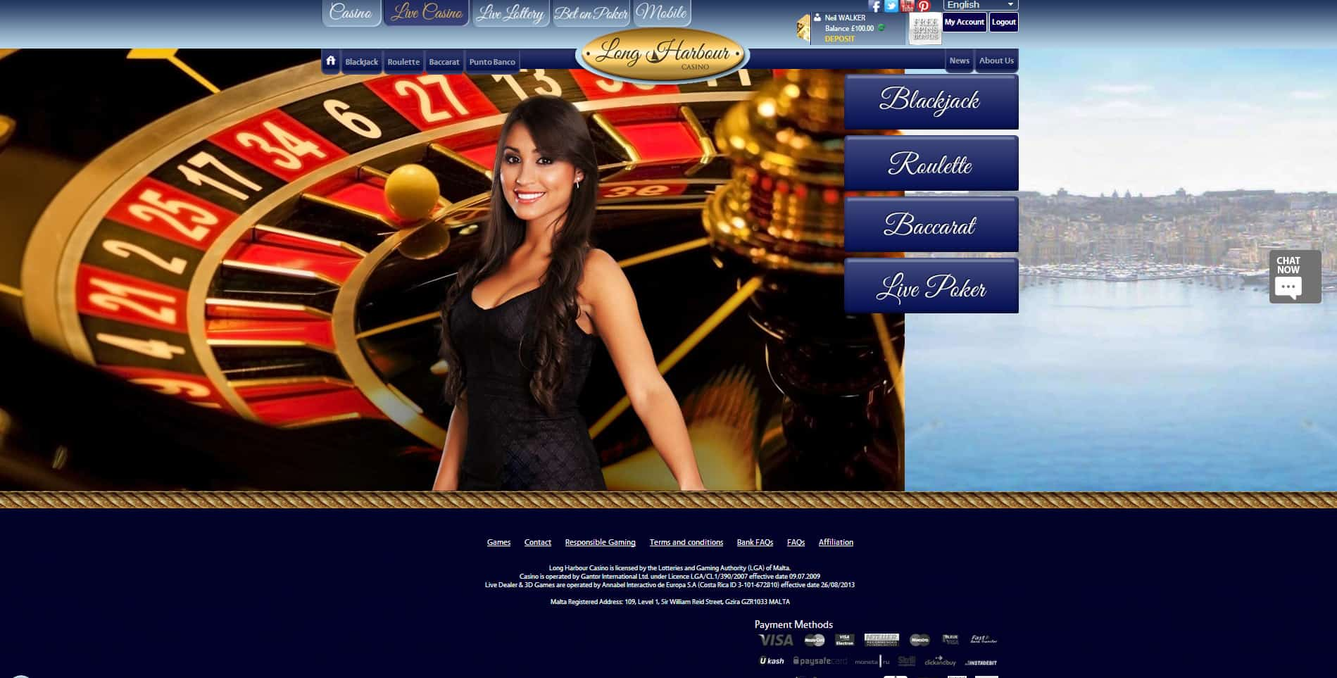 Long Harbour Live Casino