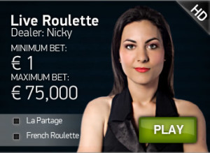 la partage option screen at Redbet