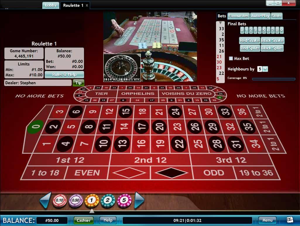 live казино рулетка играть