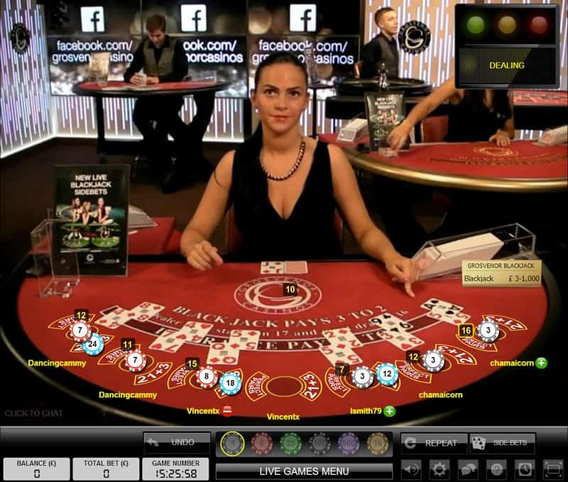 grosvenor casino online blackjack