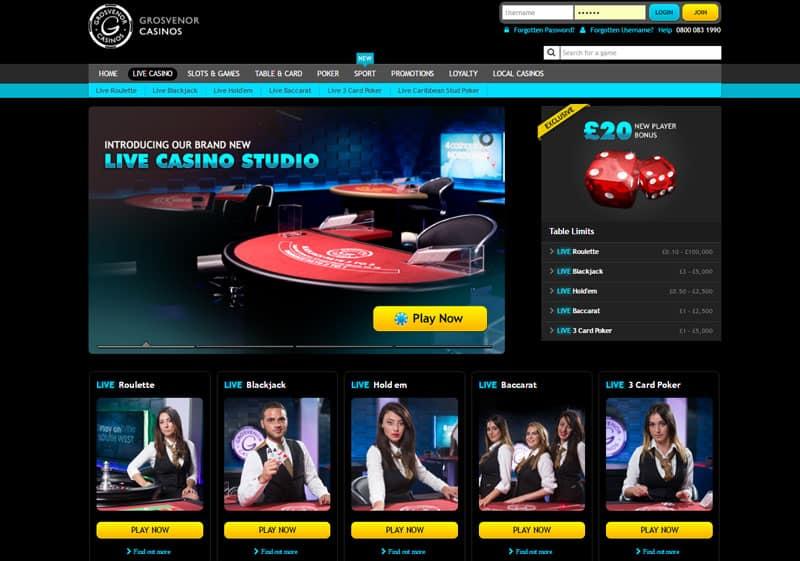 Grosvenor Live Casino