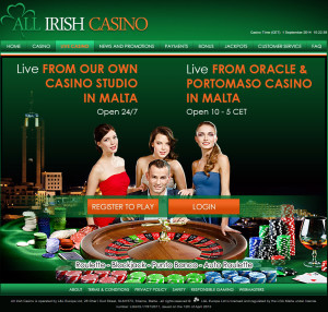 All irish live casino