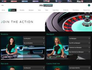 sky live casino