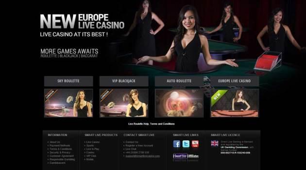 Smartlive Gaming Microgaming Home Page