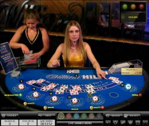 william hill Live casino Blackjack with bet behind