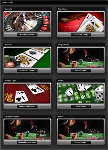 XProgaming Live Casino Lobby