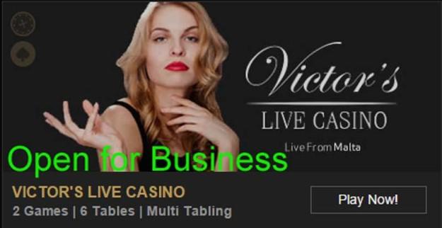 Victors Live Casino Reopens