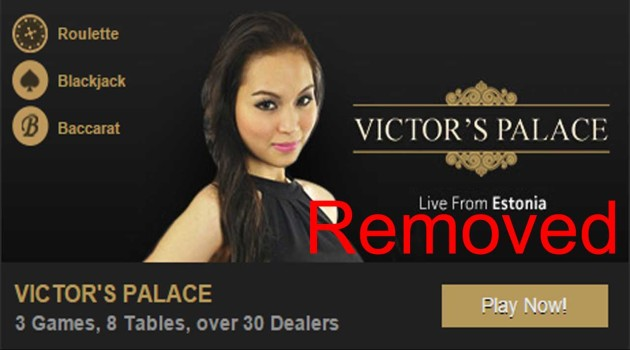 Victors Palace Live Casino - removed