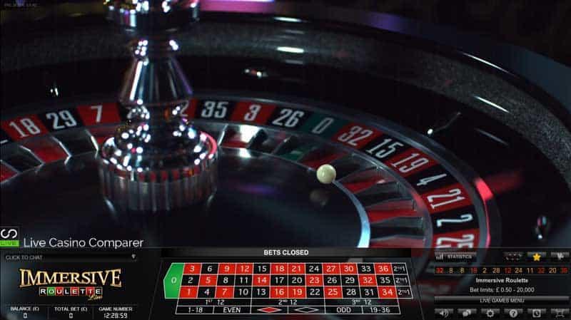 Immersive Roulette closeup