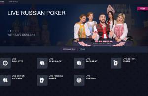 betconstruct live casino lobby