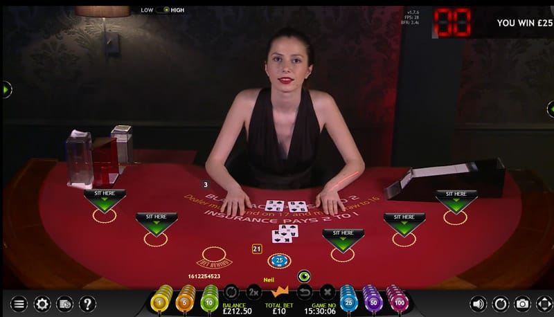 Extreme live gaming live blackjack