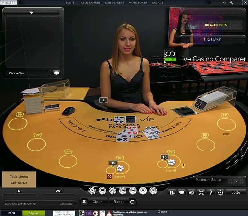 betfair casino vip levels