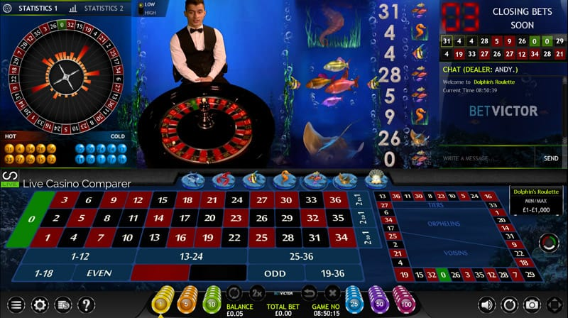 betvictor extreme live casino dolphins roulette