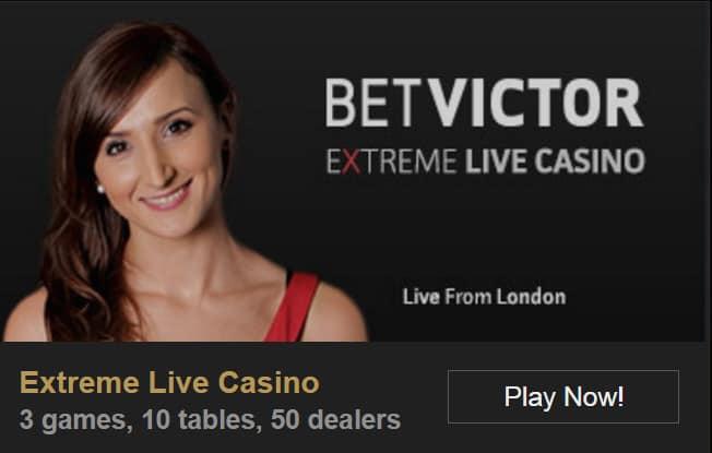 Betvictor Extreme live casino