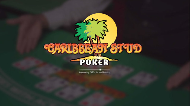 Evolution Gaming Live Caribbean Stud poker splash page