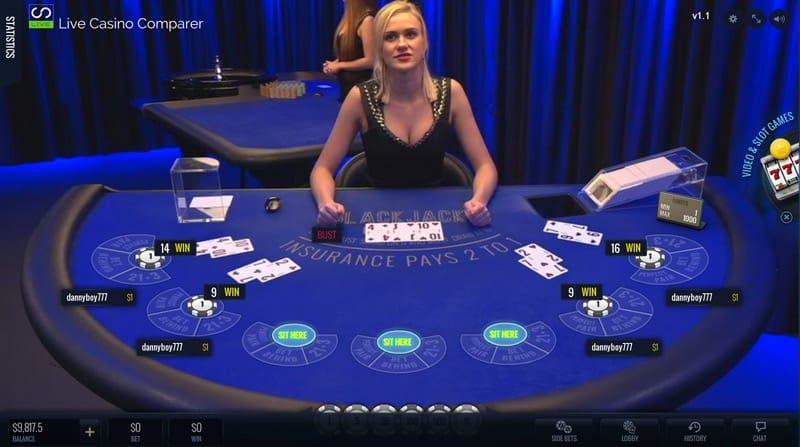 Luckystreak Live Blackjack