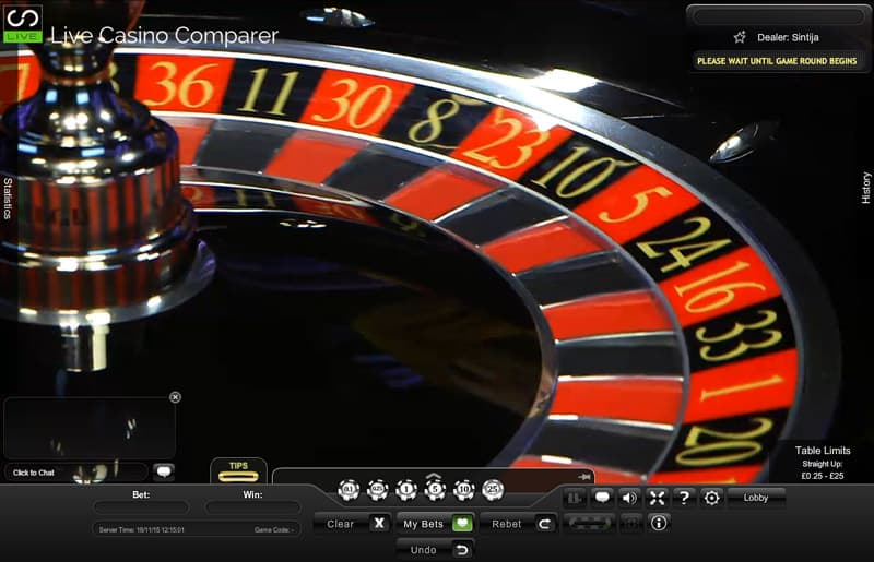 live prestige roulette closeup