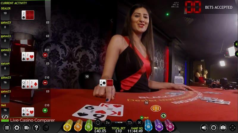 betvictor extreme live casino xmode blackjack