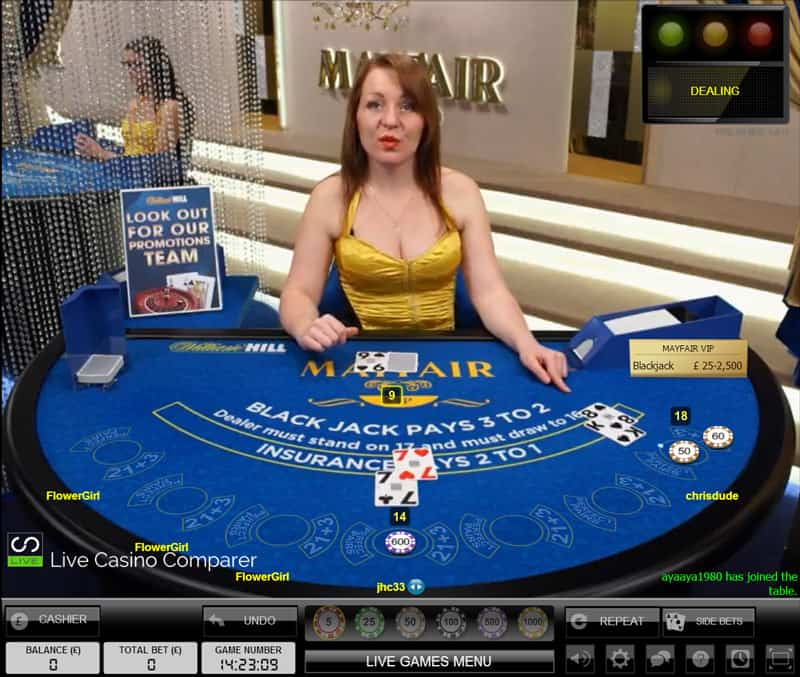 William Hill Mayfair Blackjack