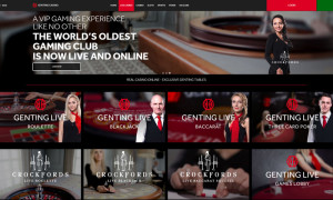 Dedicated tables for genting live casino