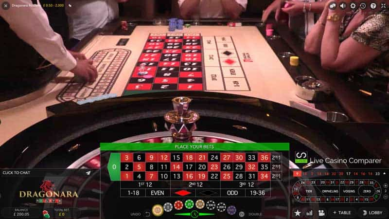 Draganara live streamed roulette