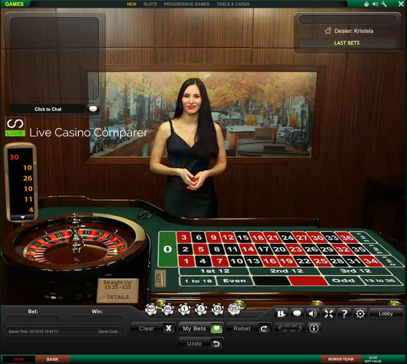 Deutsches Roulette is one of several native game variants offered by the leading live dealer brand – Evolution is a classic European single-zero Roulette as packed with features as the provider's standard version, the only difference being it's hosted by a native-speaking German croupier..The game comes with a series of extras such as Live Chat, ability to display and bet on.