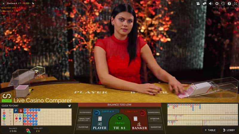 Evolution Single Player Live Bacacrat