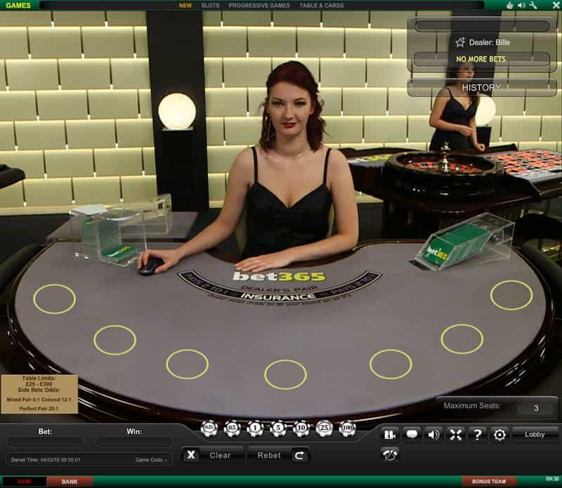 bet365 dedicated blackjack