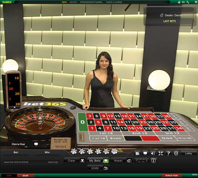 Bet365 dedicated roulette
