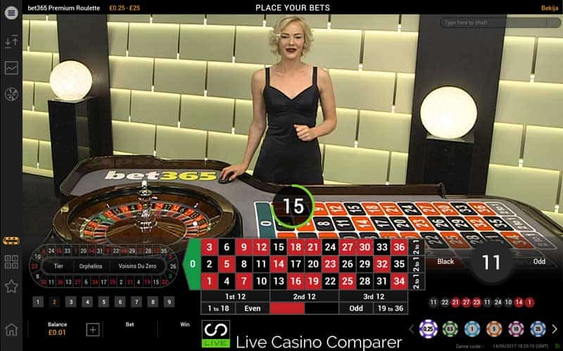 bet365 exclusive premium roulette table