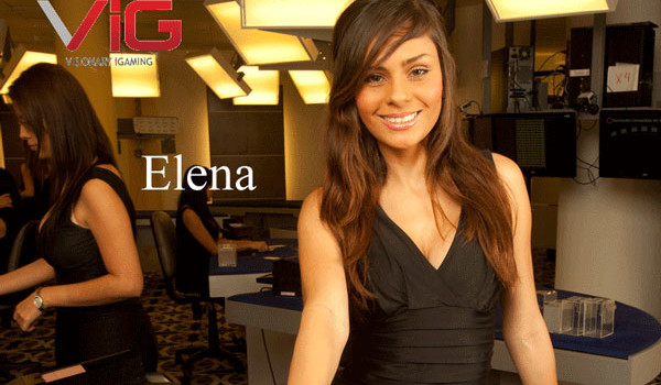 elena live dealer at visionary igaming