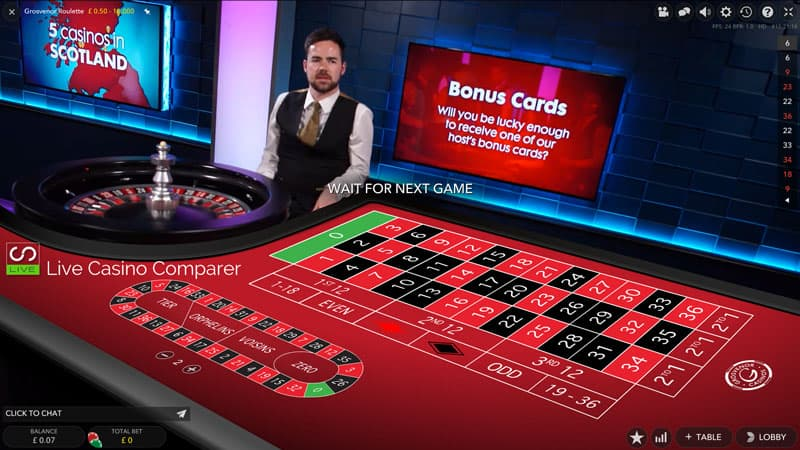 Grosvenor exclusive Roulette table