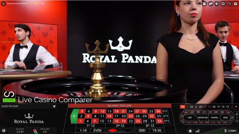 Royal Panda Exclusive Live Dealer Tables