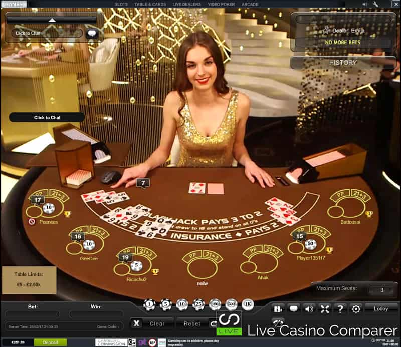 playtech's new live casino studio Royale blackjack table