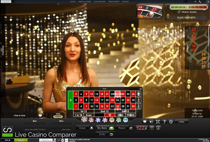 playtech's new live casino studio Grand Roulette table