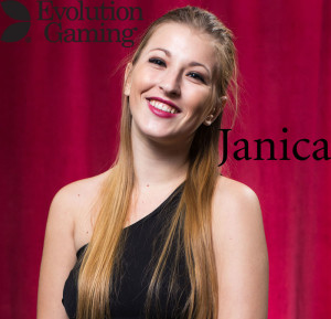 Janica German dealer at Evolution Gaming