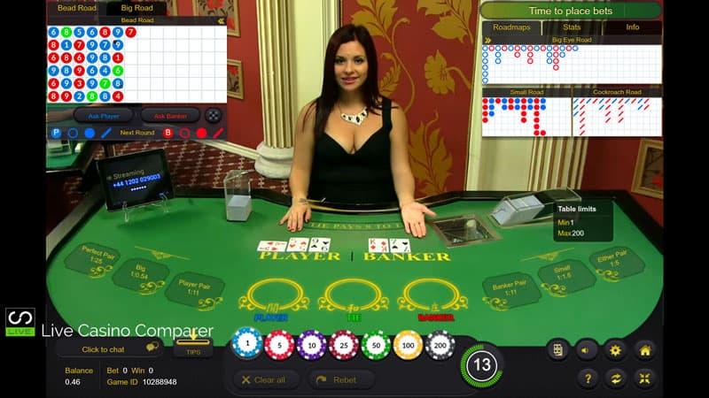 Ezugi Baccarat at Leo Vegas